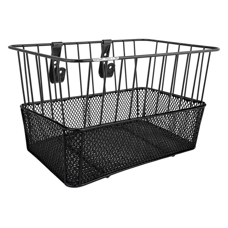 "Sunlite Front Mesh Bottom Basket - Black, 14"" x 9"""