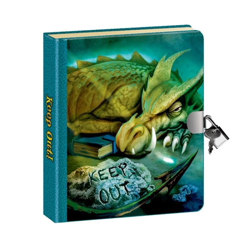 Peaceable Kingdom Keep Out! Dragon Picture-Changing Cover Lock & Key Diary