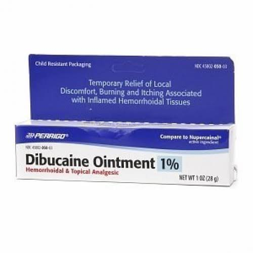 Perrigo Dibucaine Ointment - 1% Hemorrhoidal & Topical Analgesic, 30ml