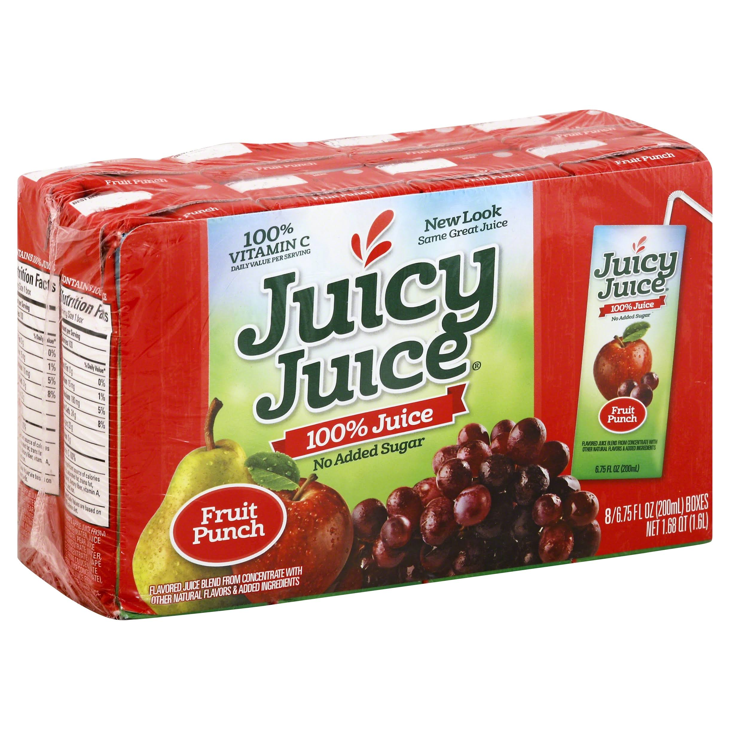 Juicy Juice 100% Juice - Fruit Punch, 6.75 fl oz, x8