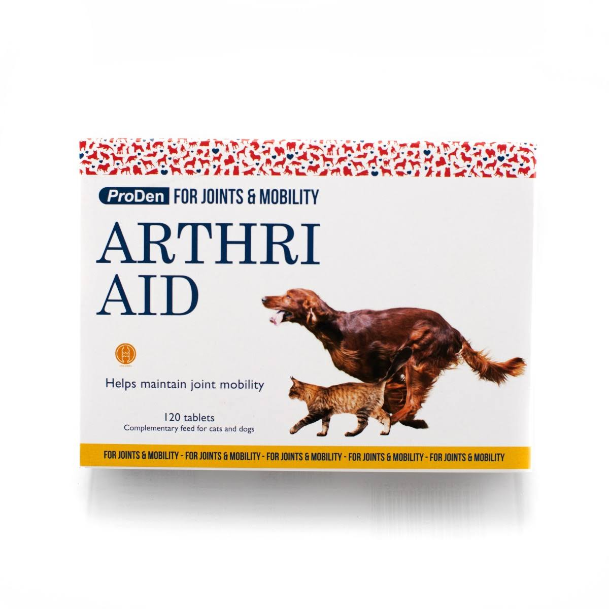 Arthri Aid For Dogs & Cats Joint Mobility - 120 Tablets