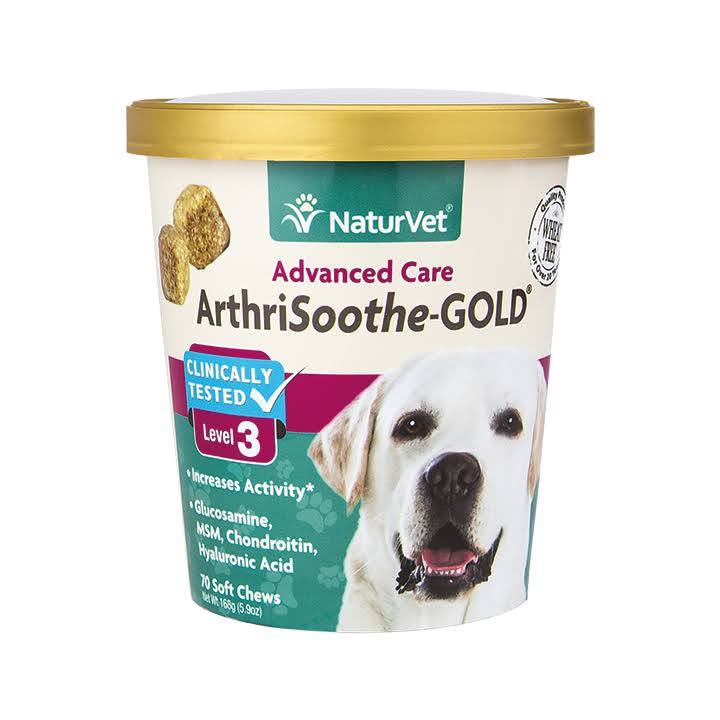 NaturVet Advanced Care ArthriSoothe Gold Soft Chews - Level 3, 70ct