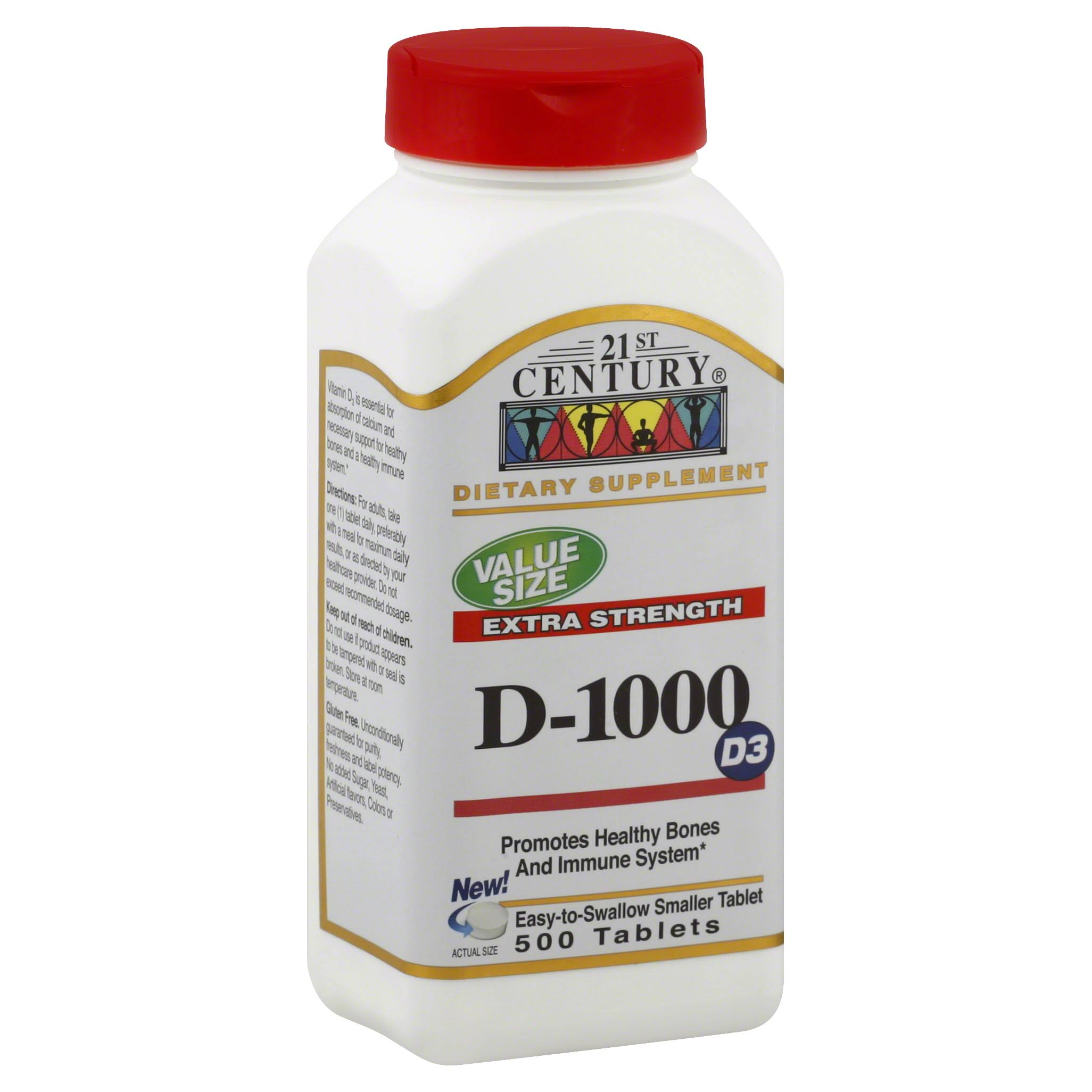 21st Century D3 1000 IU Tablets - 500ct