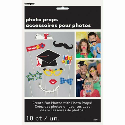 Unique Industries Graduation Photo Booth Props - 10 Count