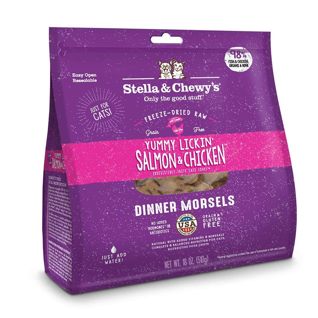 Stella and Chewy's Yummy Lickin' Dinner Morsels Cat Food - Salmon and Chicken