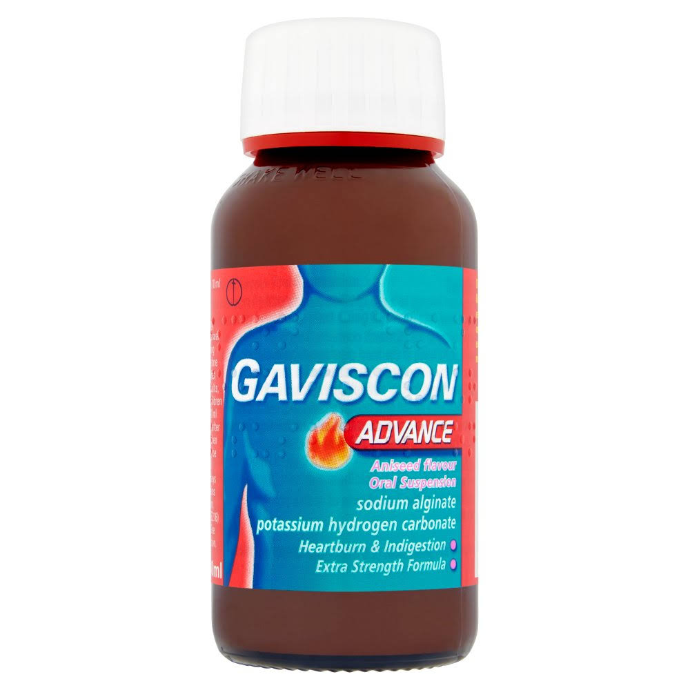 Gaviscon Advance Oral Suspension - Aniseed Flavour, 150ml