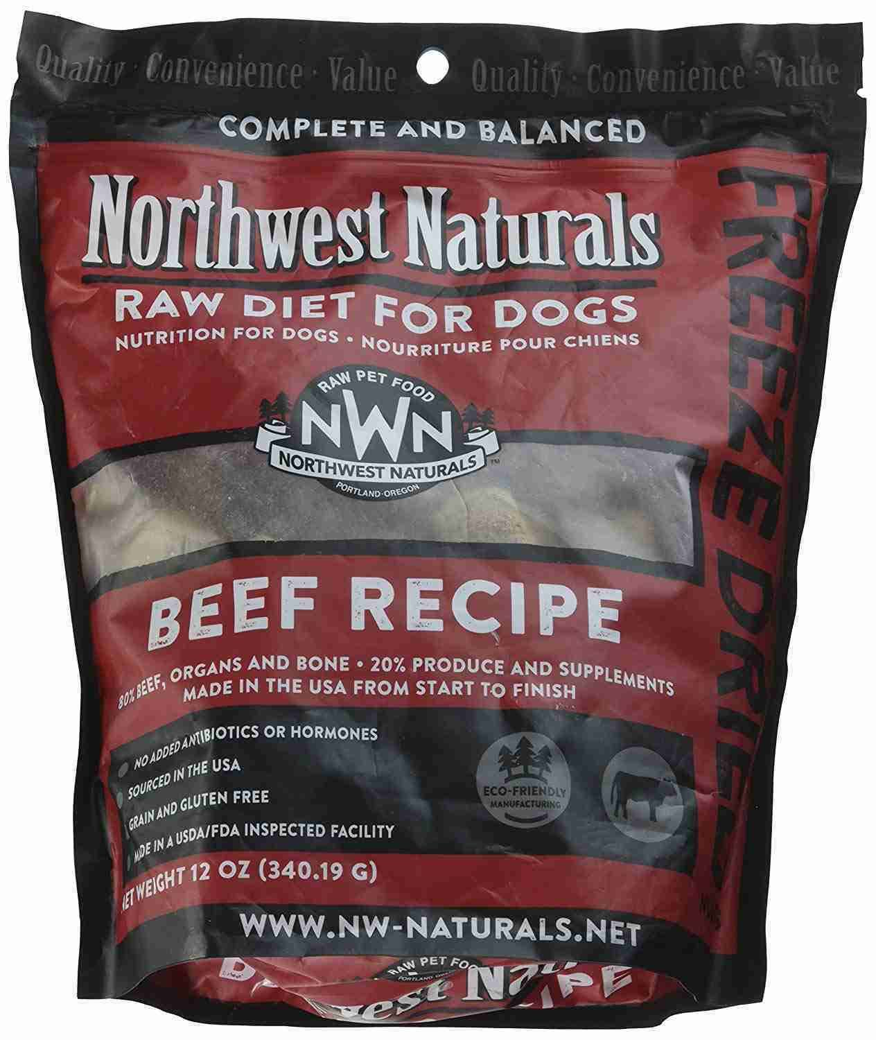 Northwest Naturals Raw Diet Freeze Dried Beef Dog Food 12oz
