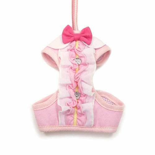 EasyGo Ruffle Dog Harness by Dogo - Pink - Small