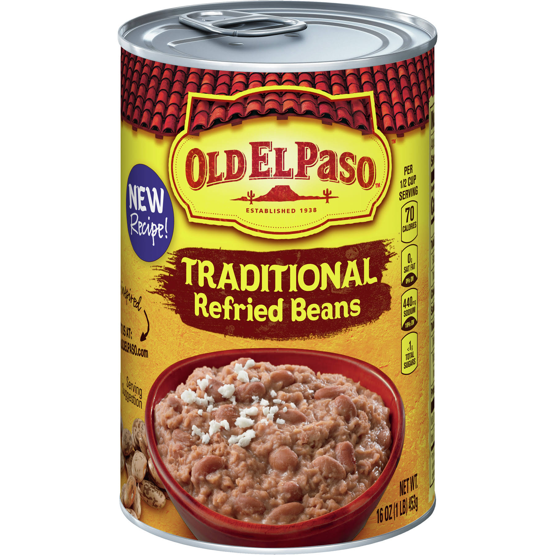 Old El Paso Traditional Refried Beans - 16oz
