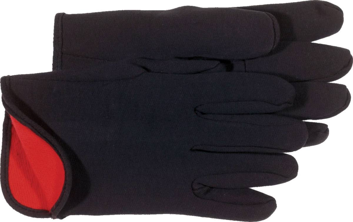 Boss Gloves Cotton Red Fleece Lined Jersey Gloves - L