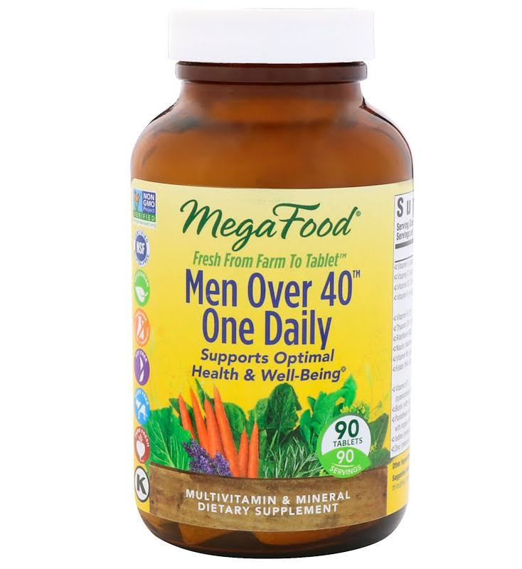 MegaFood Men Over 40 One Daily - 90 Tablets
