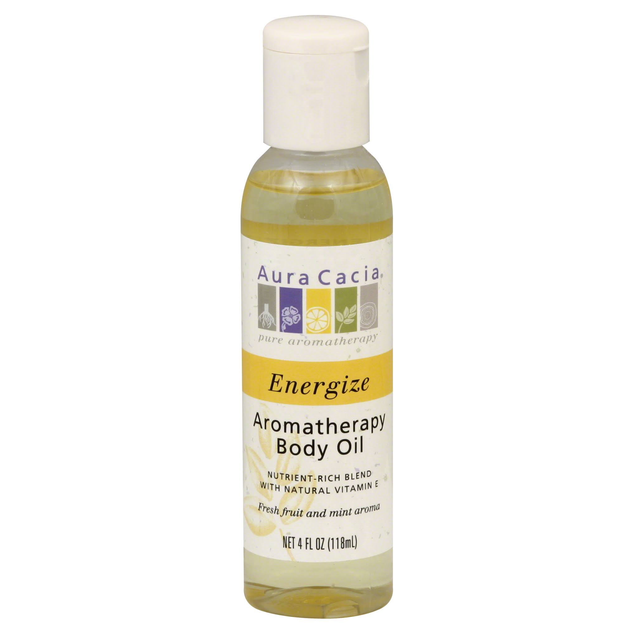 Aura Cacia Aromatherapy Body Oil - Energizing Lemon, 4oz