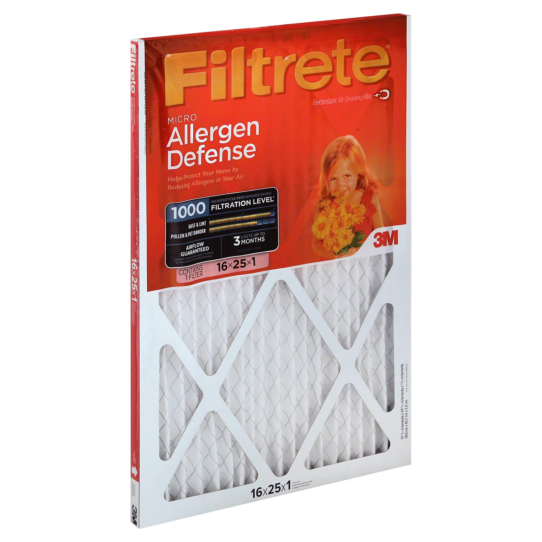 Filtrete Micro Allergen Air Filter - 16x25x1''