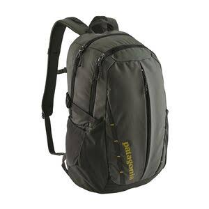 Patagonia Refugio Backpack - Forge Grey, With Textile Green