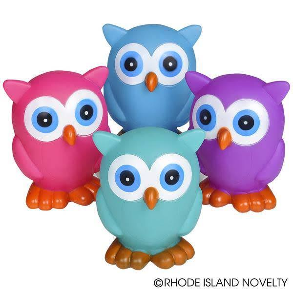 "Adventure Planet 6"" Rubber Owl with Sound"