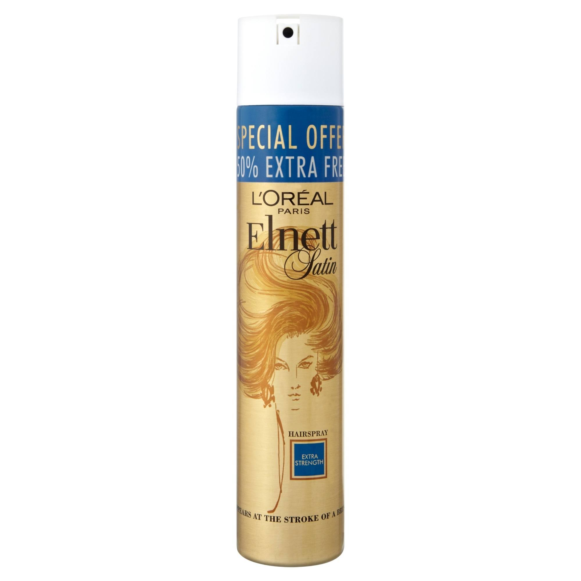 L'Oreal Elnett Satin Hairspray - Extra Strength, 300ml