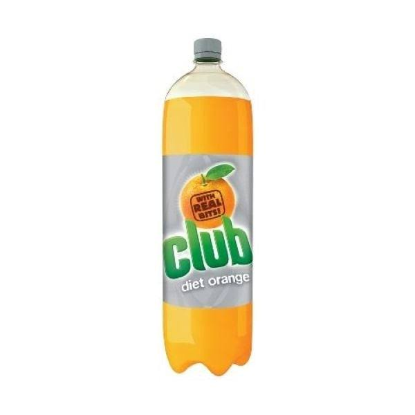 Club Carbonated Drink - Diet Orange, 2l