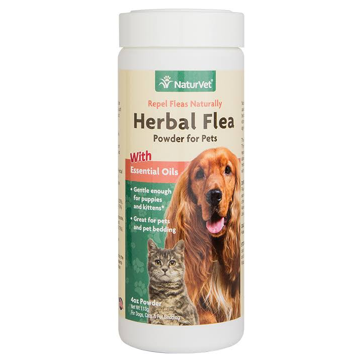 NaturVet Herbal Flea Powder - 4oz