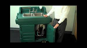 Self Contained Portable Sink by Cambro Hand Sink Cart Youtube