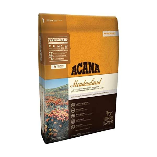 Acana Meadowlands Dry Cat Food - 12 lb