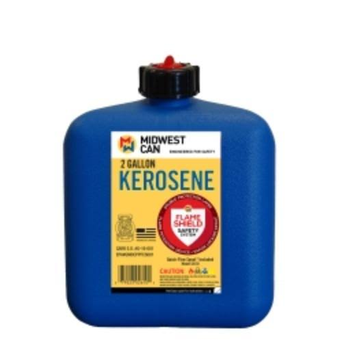 Midwest Can FlameShield Safety System Plastic Kerosene Can - 2gal