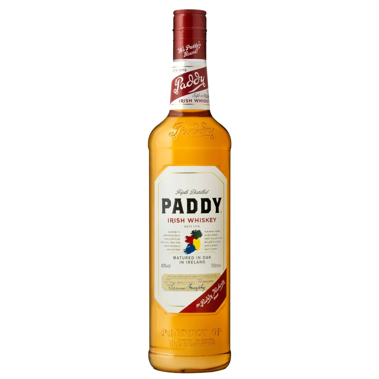 Paddy Triple Distilled Irish Whiskey - 700ml