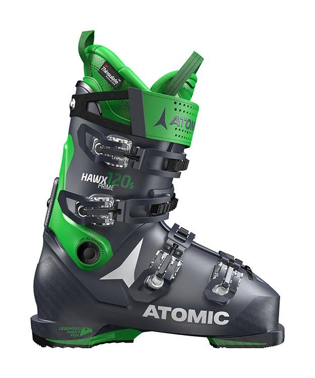 Atomic Hawx Prime 120 S Flex Ski Boots - Black Dark Green - 26-26.5