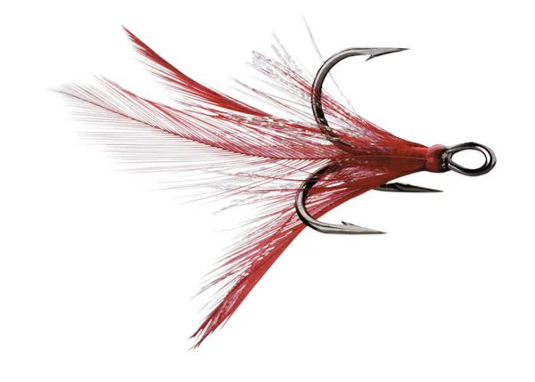 VMC Dressed X-Rap Treble Hook - Black Nickel-Red - 4