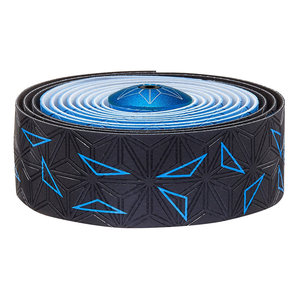 Supacaz Super Sticky Kush Star Fade Bar Tape - Neon Blue
