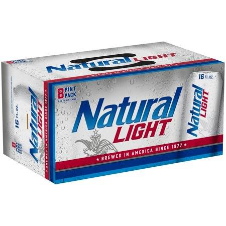 Natural Light Beer - 8pk, 16oz