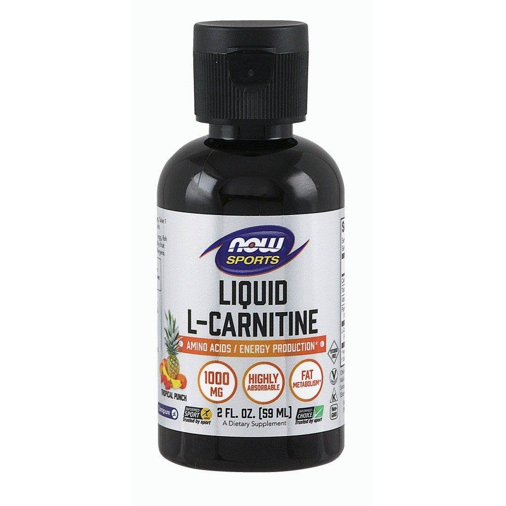 Now Foods Liquid L Carnitine Tropical Punch - 59ml