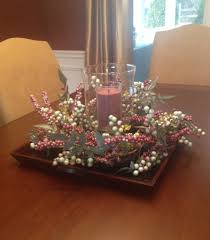 Dining Table Centerpiece Ideas For Everyday by Dining Room With Flowers And Candle On Square Plate Table