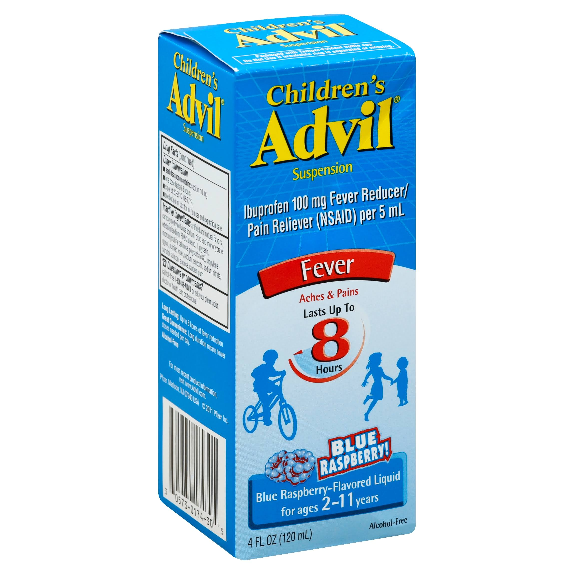 Advil Children's Suspension Fever Medicine - Blue Raspberry, 4oz