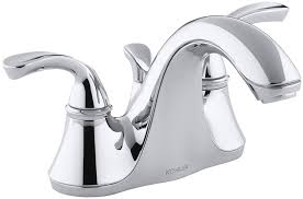 Kohler Bathroom Sink Faucets by Kohler K 10270 4 Cp Forte Centerset Lavatory Faucet With Sculpted
