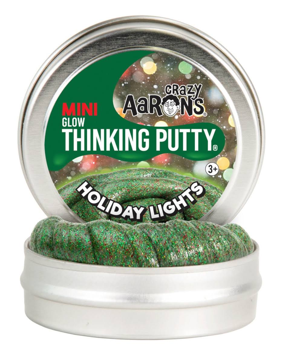 Crazy Aaron's Thinking Putty Mini Holiday Lights