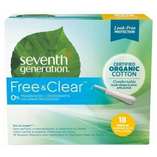 Seventh Generation Comfort Applicator Tampons - 18 count