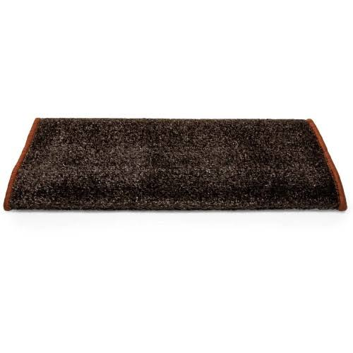 Camco 42944 Premium Wrap Around RV Step Rug, Turf Material (22 inch x 23 inch), Brown