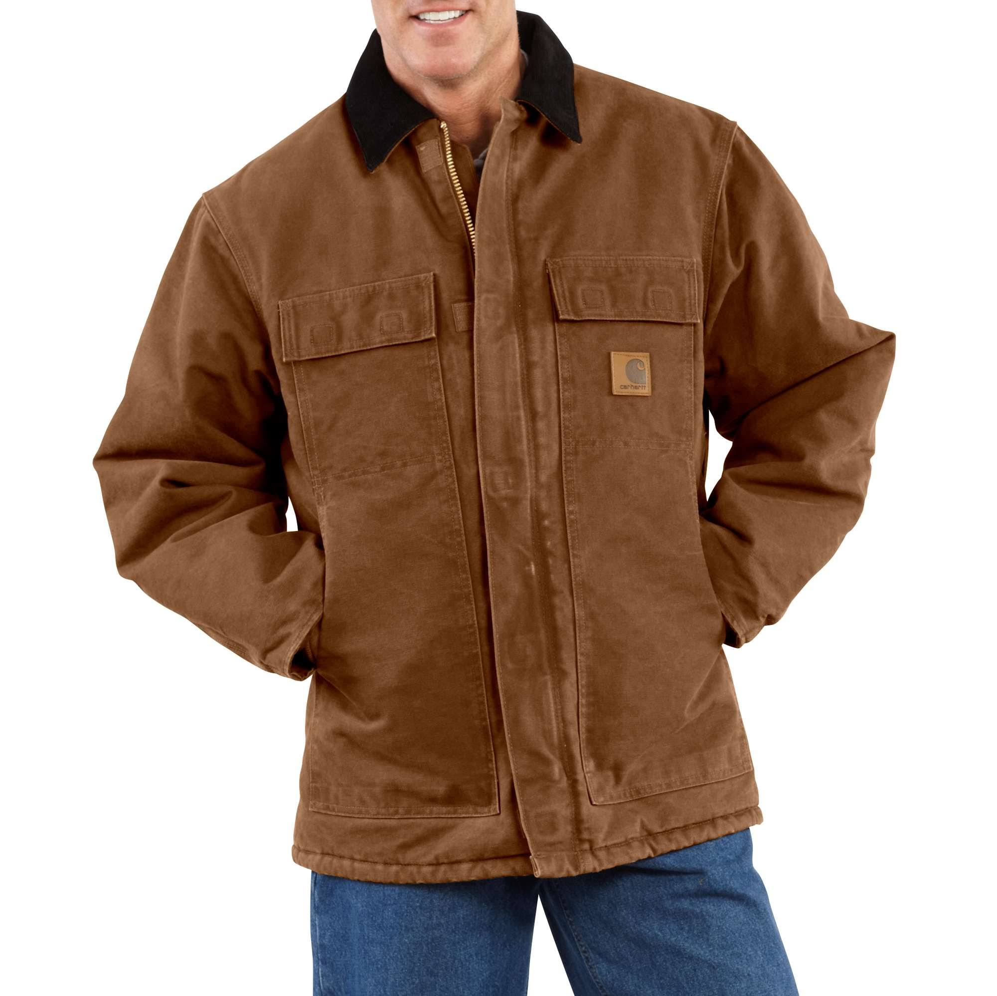 Carhartt Men's Carhartt Brown Sandstone Traditional Coat