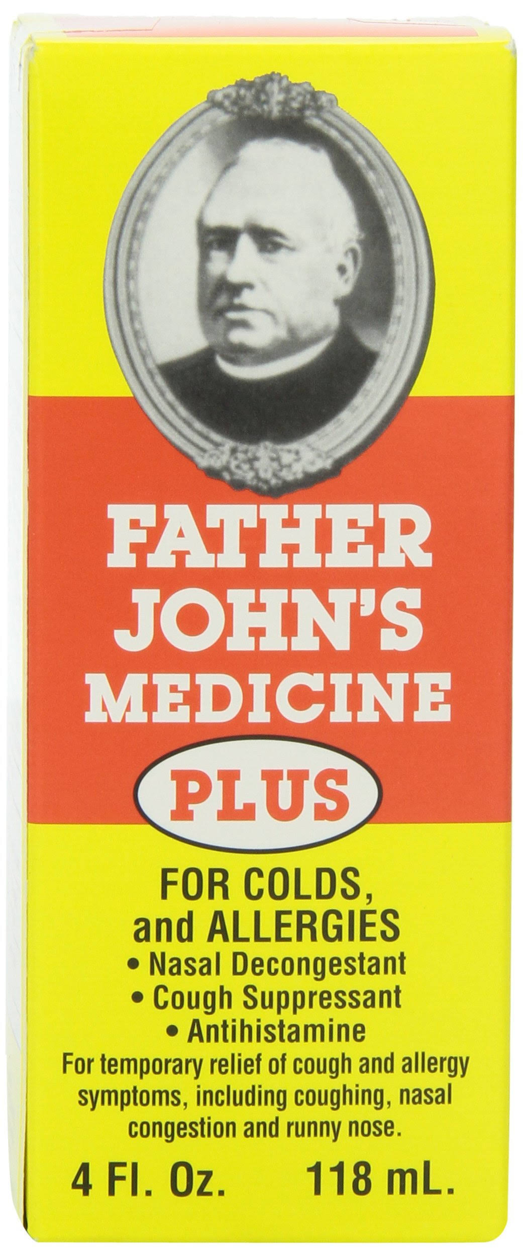 Father John's Medicine Plus For Colds And Allergies - 118ml