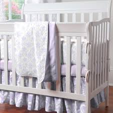 Lavender And Grey Bedding by Lilac And Silver Gray Damask Mini Crib Bedding Mini Crib Bedding
