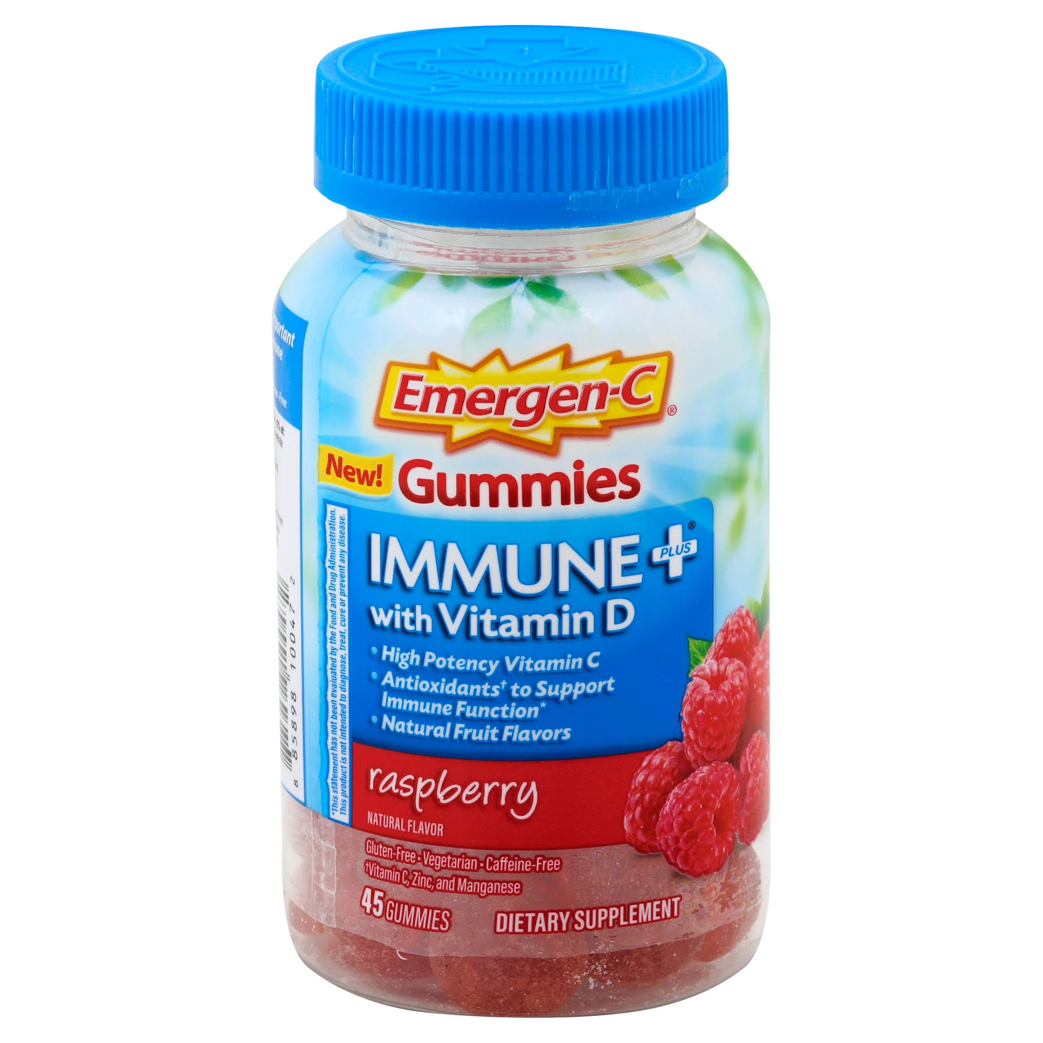 Emergen-C Immune Plus with Vitamin D Gummies - Raspberry, 45pcs