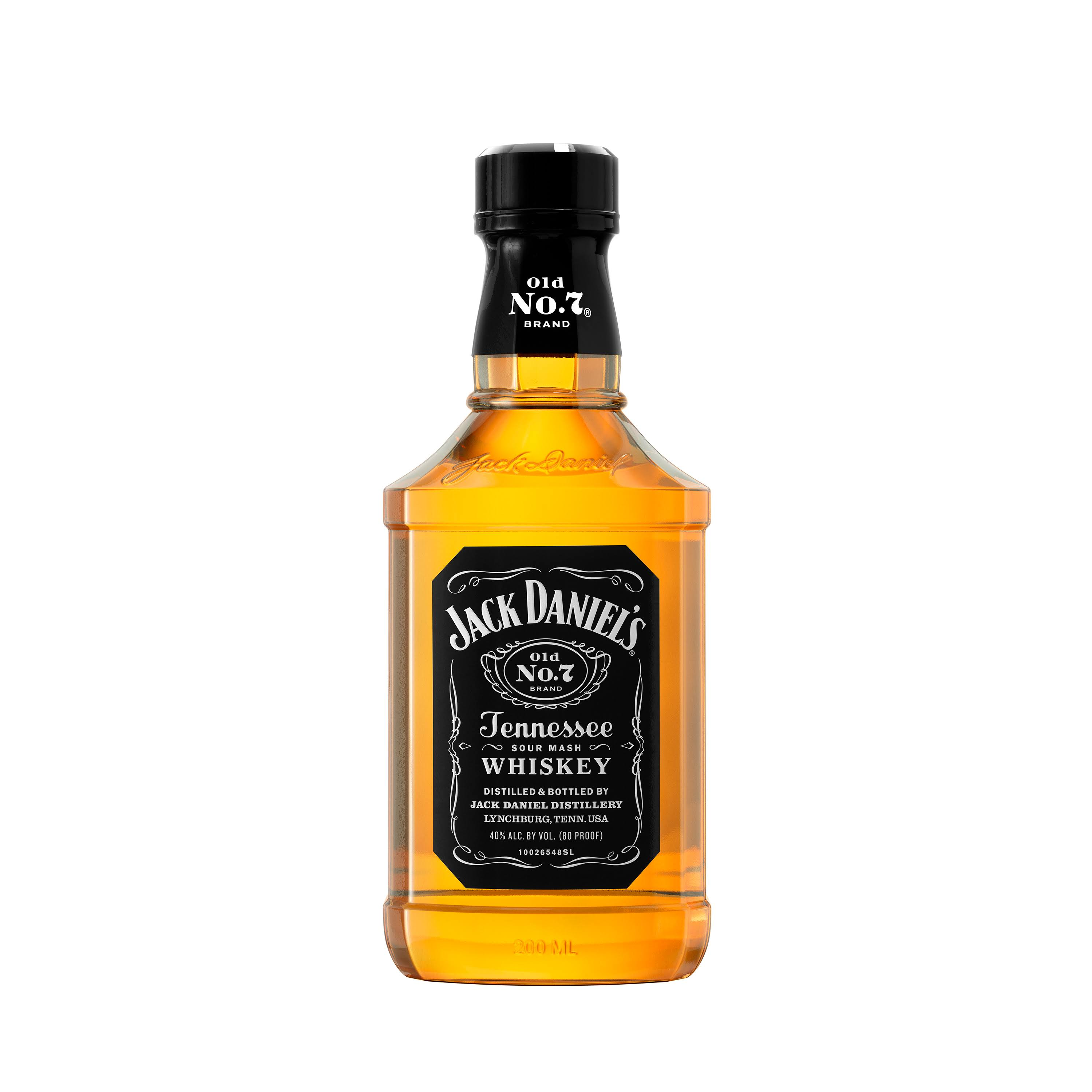 Jack Daniels Old No. 7 Whiskey, Tennessee Whiskey - 200 ml