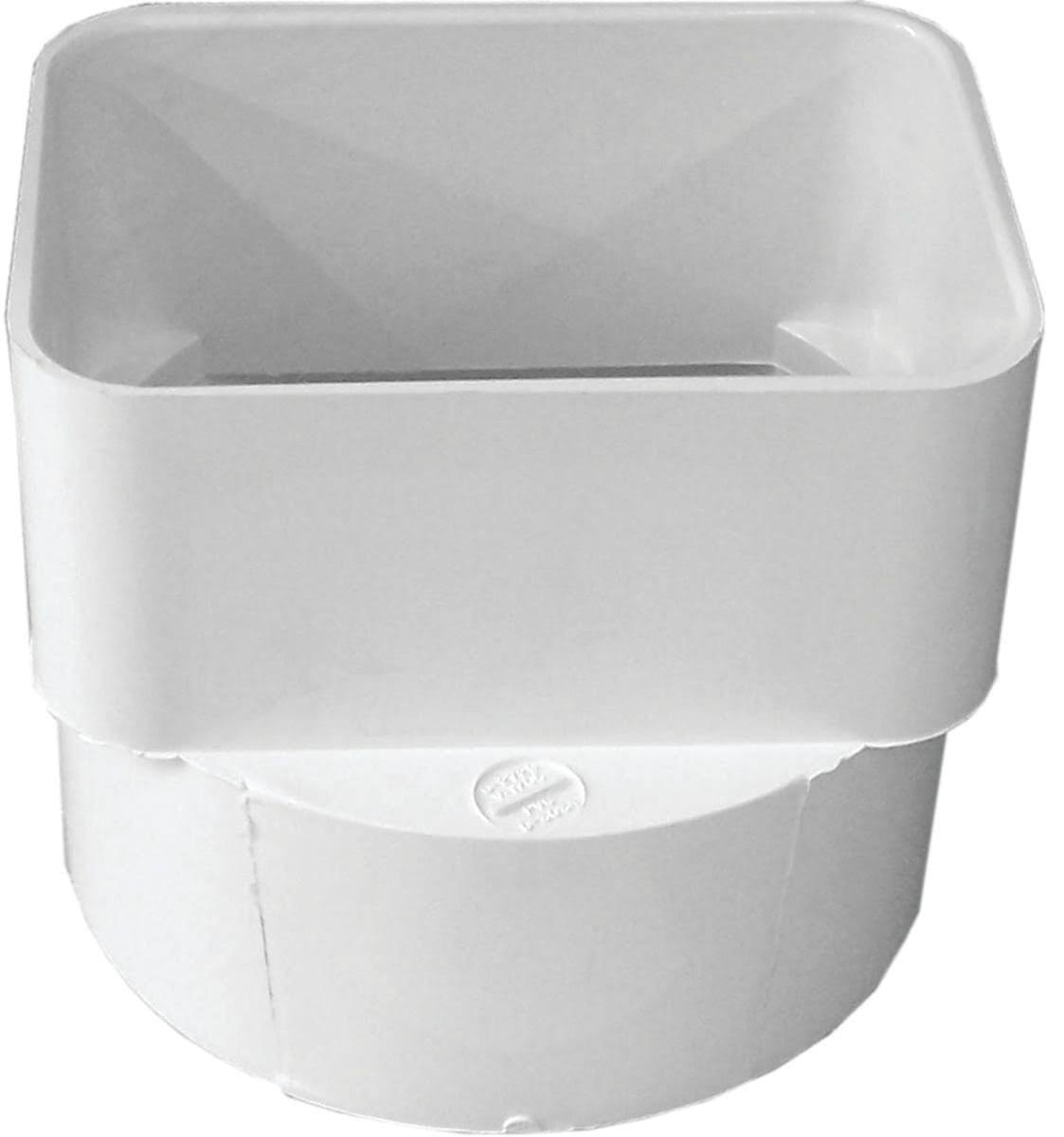 "Genova 45344 PVC Sewer and Drain Downspout Adapter - 3 ""x 4"""
