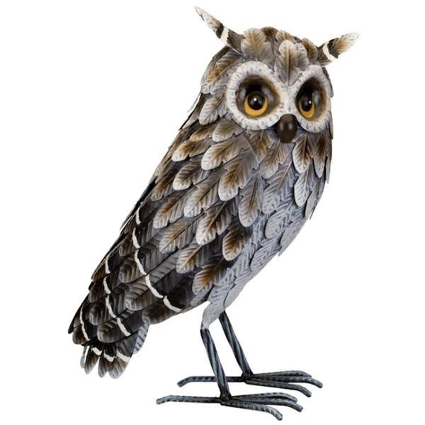 Regal Art & Gift 12449 - Grey Horned Owl - Standing Home Decor Animal