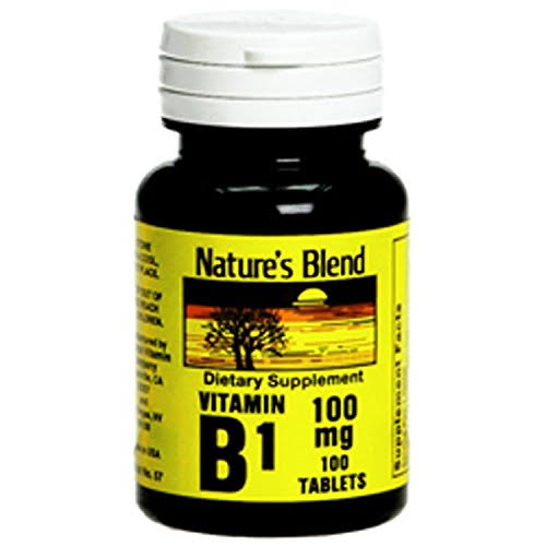 Nature's Blend Vitamin B1 100mg Tablets