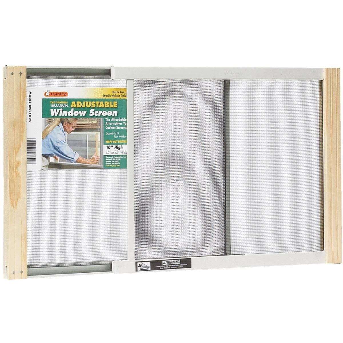 "Frost King Adjustable Window Screens - 10"" x 15-25"""
