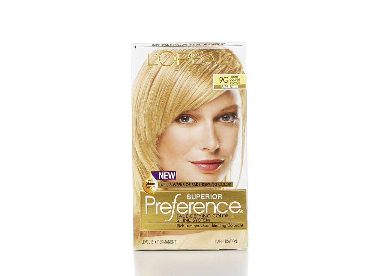 L'Oréal Superior Preference Hair Color - 9G Light Golden Blonde