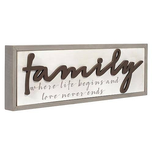 Family Is Where Life Begins Box Sign by Malden