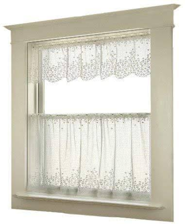 "Heritage Lace Blossom Tier Curtains - White, 42"" x 30"""