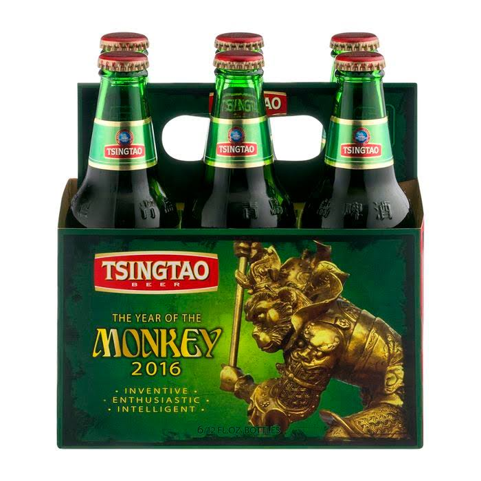 青岛啤酒 Tsingtao Chinese Lager - 6 Pack, 12oz